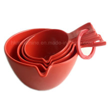 Red Melamine Measuring Spoon Set