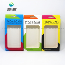 Custom Promotion Colorful Mobile Phone Case PVC Window Printing Packaging Box