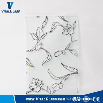 4-6mm Frosted / Acid grabado al ácido de vidrio decorativo / Art con CE & ISO9001