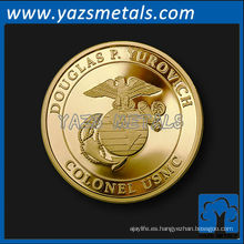 Moneda de cobre de alta calidad de encargo del recuerdo de la alta calidad