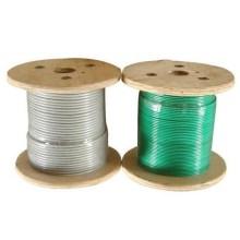 Câble métallique galvanisé 6x19FC enduit de PVC de haute qualité