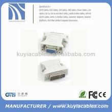 24 + 1 DVI Pin mâle à 15 broches VGA femelle convertisseur DVI VGA adaptateur DVI-D