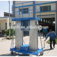 Mobile electric aluminum mast ladder order picker lift