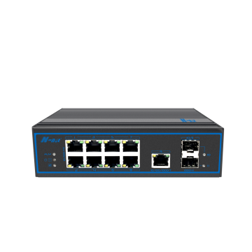 11-portar utan hanterad Industrial None-PoE-switch