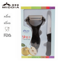 Керамический нож+Овощечистка Set для фруктов и овощей