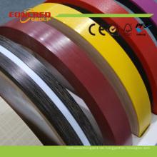 Heißer Verkauf Holzmaserung PVC Kantenband mit starken Schutz