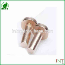 High electric performance pure copper rivets