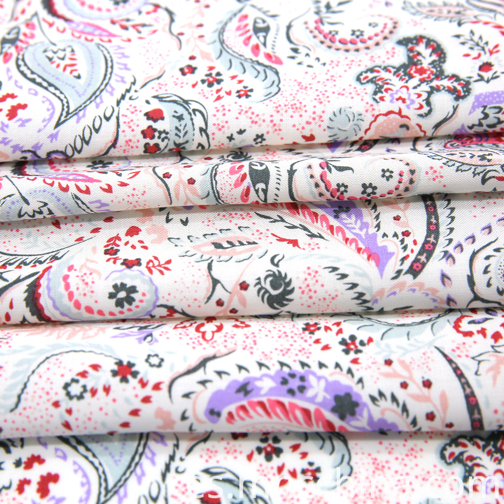 spun rayon print fabric in 30s