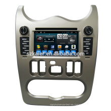 ¡Caliente! Android 6.0 Fabricante 6.2 '' Audio del reproductor de DVD del coche para Renault Logan / Sandero / Duster 2015 2016 con USB SD mapa GPS Navi OEM
