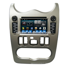 Chaud! Android 6.0 Fabricant 6.2 '' Voiture Lecteur DVD Audio pour Renault Logan / Sandero / Duster 2015 2016 avec carte SD USB GPS Navi OEM