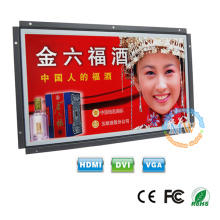 """wide screen TFT color 15"""" open frame LCD monitor with HDMI VGA DVI port"""