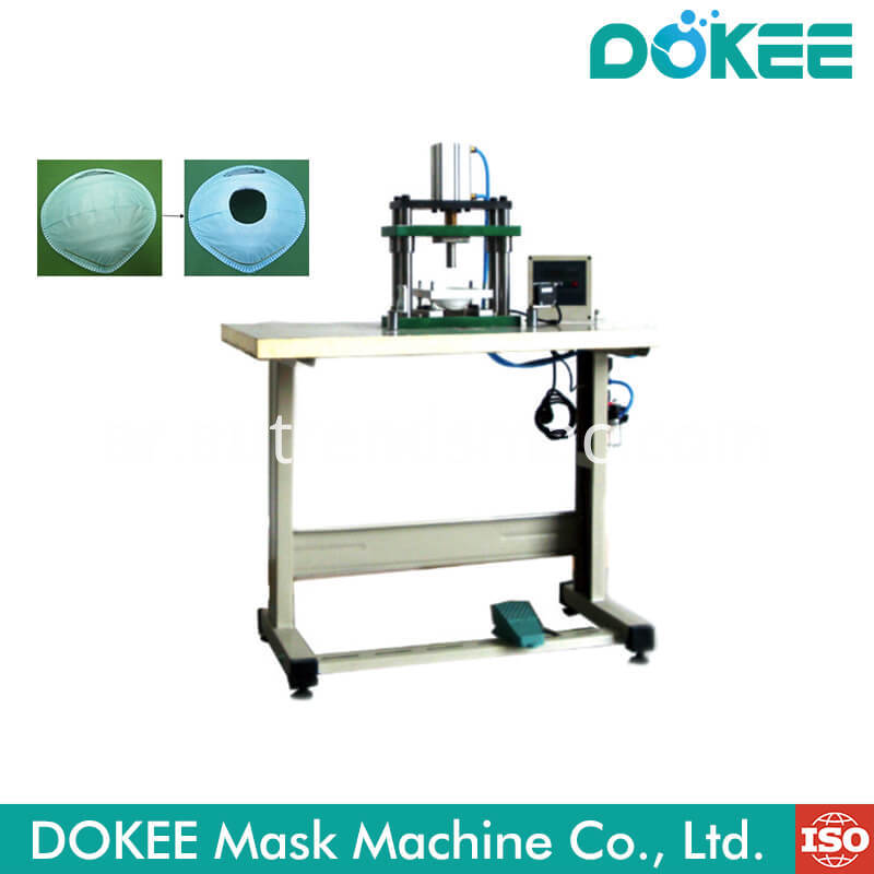 N95 Cup Mask Breather Holes Punching Machines