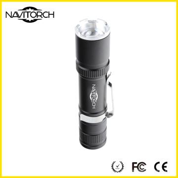 Tragbare Clip 3 Modi Eloxierte Aluminium Taschenlampe (NK-6620)
