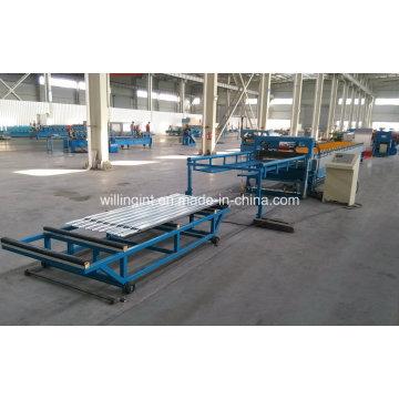 Máquina formadora de rolos trapezoidais para telhado