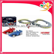 B/O toy race track by hand 362cm long track toy car with hand generator