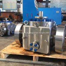 Válvula de bola montada en muñón de entrada superior de acero forjado