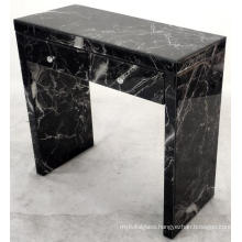 Marble Pattern Glass MDF 2 Drawer Dressing Table