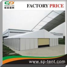 Extra große temporäre Lagerzelt Garage 15x60m mit Sandwich Wand und Auto Rilling Tür für Auto Lagerung