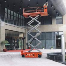 Precio barato 10 m Elevador de tijera eléctrico elevado para uso en exteriores, para interiores y exteriores