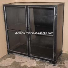 Промышленные Старинные Металлический Шкаф Стеклянный Шкаф