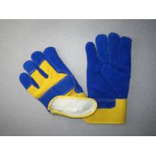 Blaue Kuh Split Leder Palm Acryl Futter Winter Handschuh-3085