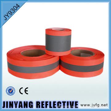 Sola cara alta visibilidad coser cinta reflectante de poliéster
