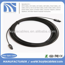 33ft Cabo óptico óptico óptico da fibra óptica de Toslink 10m OD 2.2mm