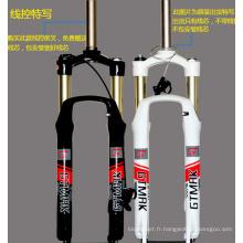 Mountain Bike Suspension Fork Bike Lock Fourchette en aluminium Mountain Bike Air Fork 2 couleurs