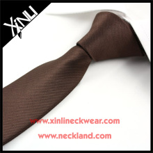 Corbata 100% hecha a mano de poliéster color sólido flaca