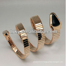 Bracelet en or rose serpent en acier inoxydable