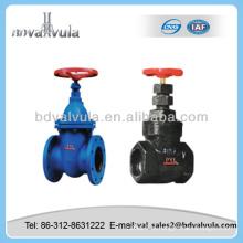 Válvula manual válvula de porta de ferro fundido válvula de porta cuniforme