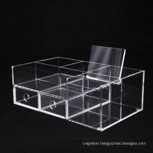 Factory Wholesales Transparent 2 Tier 4 Tier Box desk makeup cosmetic organizer Plastic Storage Acrylic Box rack
