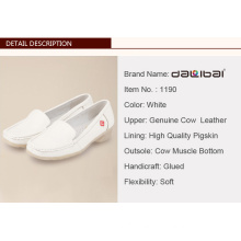 White leather mates nurse shoes with wedge heels