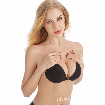 Mulheres Silicone Bra Invisible Push Up Stick-On bra