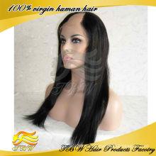 Человеческих волос девственницы бразильские U часть парик средней части