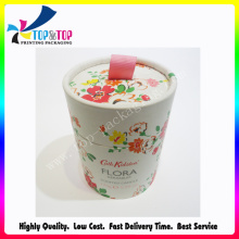 Offset Printing Art Paper Box Cylinder Round Cosmetic Tube