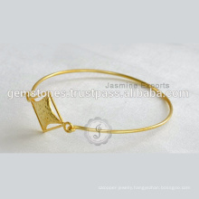 Designer Vermeil Gold Plated Latest Design Daily Wear Bangle In Wholesale