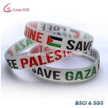 Pulsera de goma de moda plana de Emiratos Árabes Unidos / brazalete pulsera