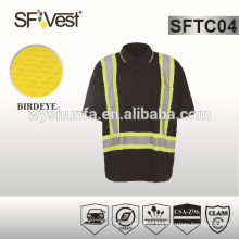 High Visible Clothing security shirt with reflective material protective clothing for man CSA Z96-09