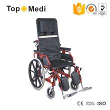 Manueller klappbarer Aluminiumrahmen-Rollstuhl mit hoher Rückenlehne