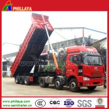 Reboque / descarregador pesados de levantamento dianteiros do camião basculante com capacidade 50-60t