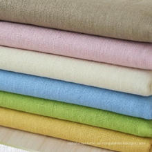 30s 85% Rayon 15% Leinen Blended Fabric, Leinen Rayon Plain Fabric