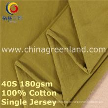 Baumwoll-Spandex-Single-Jersey-Strickgewebe für Kleidungsstück Tee (GLLML378)