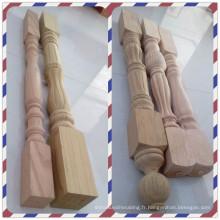 Escalier chinois en bois