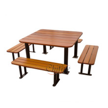 Polyresin and Steel Picnic Table Bench