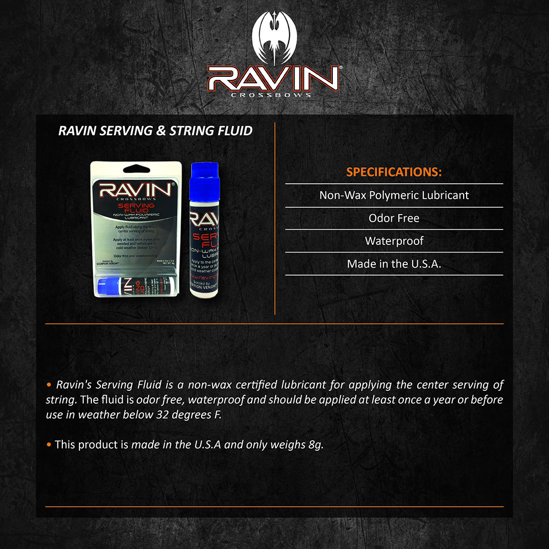 Ravin_Serving_and_String_Fluid_Product_Description