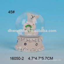 Lovely bear shaped polyresin 45mm water globe