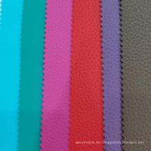 Litchi Grain PVC Leder mit Rouge Stoff