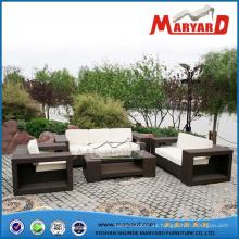 Sofá de mimbre de alta calidad de los muebles del jardín