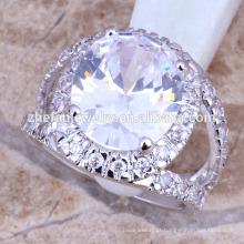 Grande anel de noivado de diamantes de bronze jóias zircônia cúbica